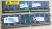 Модули оперативной памяти DDR 400 2 шт. по 1 GB каждая