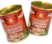 Свинина тушеная консервы. мясн. кусковые стер. 1с  по ГОСТу